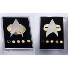 Star Trek Next Generation Combadge Communicator Metal Pins & Rank Brooch Badge