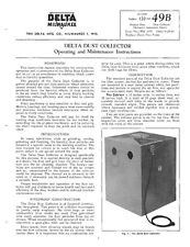 Delta Rockwell  Dust Collector Instructions