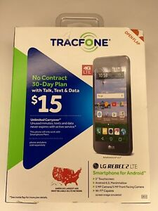 NEW | TracFone LG Rebel 2 4G LTE Prepaid Smartphone