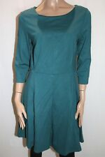Portmans Brand Teal 3/4 Sleeve Ponti Fit n Flare Dress Size 14 BNWT #TQ31