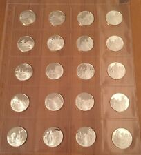 More details for solid silver hallmarked historic commemorative coins x 20