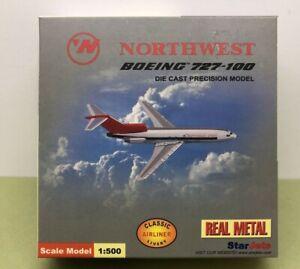 BOEING 727-100 NORTHWEST 1:500 DIE CAST STAR JETS - NOS MIB