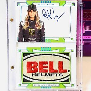 1/1 Hailie Deegan 2020 National Treasures Racing Booklet *BELL HELMETS* Patch RC