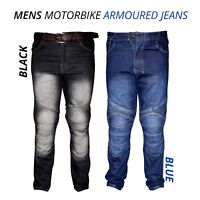 New Mens Motorbike Motorcycle Armoured Jeans Pant Denim Trousers With Protection