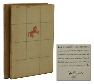 The Red Pony ~ JOHN STEINBECK ~ Signed Limited First Edition ~ 1st 1937