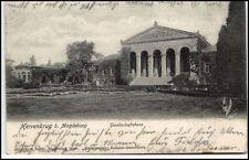 1903 HERRENKRUG b. Magdeburg Partie Gesellschaftshaus nach Fallersleben gelaufen