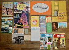 Disneyland vintage theme park hotel restaurant ephemera souvenir lot set