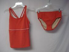 NWT Women's USA Made Penbrooke 2 Piece Tankini Swimwear Size 10 Coral #565J