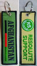 "Portachiave Ricamo Missione ""R.S. RESOLUTE SUPPORT - AFGHANISTAN"" (Originale PX)"