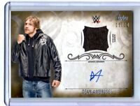 WWE Dean Ambrose 2016 Topps Undisputed GOLD Autograph Relic Card SN 5 of 10