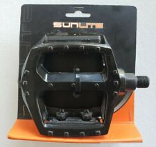 """Sunlite Forged Alloy Platform 1/2"""" Bicycle Pedals 41556 Black  NEW"""