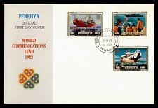 DR WHO 1983 PENRHYN FDC WORLD COMMUNICATIONS YEAR  C237560