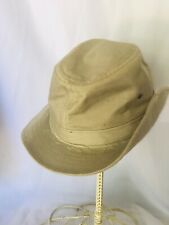 Stetson Vtg Outback Sz L Khaki Canvas Fedora Safari Fishing Hunting Hat USA
