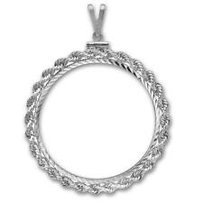 38.1 mm Silver Polished Rope Diamond Cut Mount for 08-17 Austrian Philharmonic