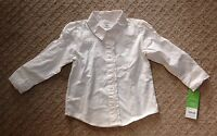 NWT Toddler Girl's Ivory Cream Embroidered Long Sleeve Top-Size 2T