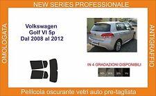 pellicola oscurante vetri volkswagen golf VI 5 porte dal 2008 al 2012