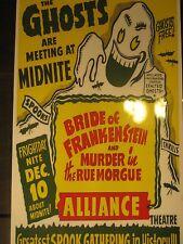 50s Spook Show GHOSTS Event Poster Print Spooky Weird ODD Curios Strange Horror