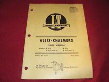 Allis Chalmers D-10 D-12 D-10 & D-12 Series III Tractor I&T Shop Manual WPNH