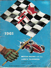 Brands Hatch Motor Racing with the Lords Taverners 5/1961 Programme inc. Karting