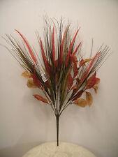 ARTIFICIAL WEDDING BOUQUET SPRAY MIXED GRASS FALL LEAF BUSH PLANT FESCUE FLOWER