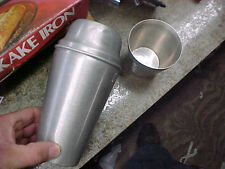 Bs2 Vintage Aluminum Lidded Cocktail Shaker with shot glass cup Toddy Rare