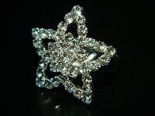 Festa Nuziale Diamante Shine Strass Fiore regolabile ring fr26