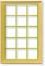 1 12 Scale Georgian 15 Pane Window & Frame Dolls House Miniature Accessory 073