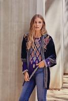 💕NWT JOHNNY WAS Embroidered Peacock QUITO VELVET KIMONO Jacket Cardigan S $378