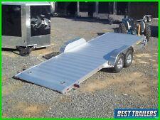 2018 aluma 8220 HT gravity tilt equipment carhauler trailer aluminum w spare