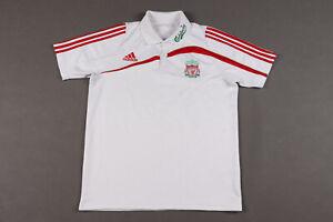 Liverpool 2009-10 Original Polo Shirt Adidas Soccer Jersey Size M