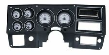 1973-87 Chevy Pickup VHX System, Silver Alloy Style Face, White Display
