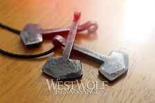 Simple Thor's Hammer Pendant - Hand-Forged Iron --- Norse/Mjolnir/Odin/Necklace
