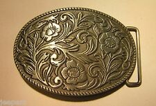 Motif Floral Rodéo Western Cow-boy ovale boucle ceinture détaillé 3D finition