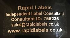 50 x Consultant Personalised Labels Transparent Waterproof Metallic Silver Print