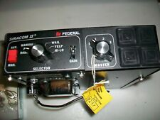 Nos Federal Signal Siracom 11 Loudspeaker Control W/O Mic 5965-01-112-5581