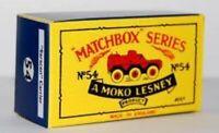 Matchbox Lesney 54 Saracen Personnel Carrier empty Repro B style Box