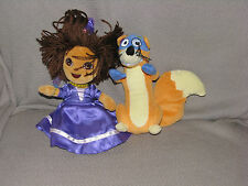TY DORA THE EXPLORER STUFFED PLUSH BEAN BAG PRINCESS AND SWIPER FOX BEANIE BABY