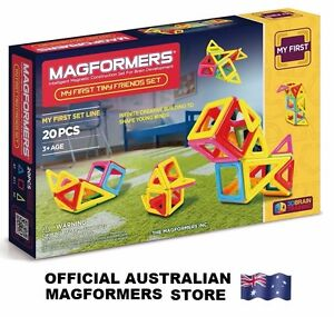 Genuine MAGFORMERS Tiny Friends Set - 3D Brain Training Magnetic Construction