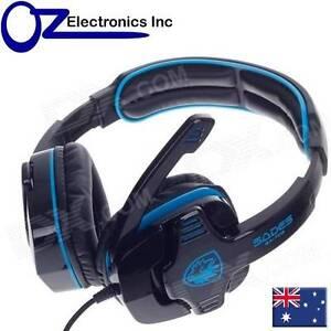 SADES GPOWER 708 Stereo PC Gaming Headset Headphones Noise Cancel Mic Brand New