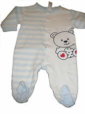 C & A toller Schlafanzug Gr. 68 hellblau-weiß mit Bärchen Motiv !!