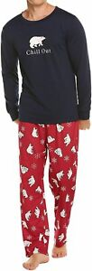 Ekouaer Matching Family Christmas Pajama Set Holiday Sleepwear PJs Lounge Sets L