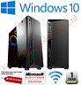 Gaming PC Quad Core i5 Computer SSD HDD 4-16 GB RAM GT GTX GFX Windows 10 WiFi