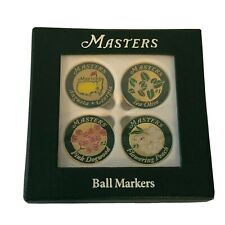 2018 Masters Tournament Set of 4 Flower Golf Ball Markers Augusta National