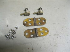 VINTAGE WHITE ROTARY SEWING MACHINE BARREL HEAD HINGES & LID HINGES