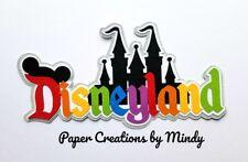 CRAFTECAFE MINDY DISNEYLAND DIE CUT  premade paper piecing TITLE scrapbook