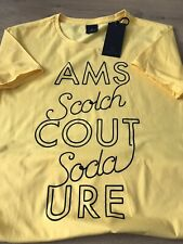 Large Scotch And Soda Mens Yellow 100% Cotton Tshirt BNWT