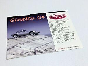 2002 Dare Ginetta G4 Information Sheet Postcard Brochure