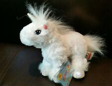 GANZ WEBKINZ LIL KINZ WHITE UNICORN HORSE RETIRED BRAND NEW WITH TAG and CODE