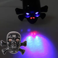 2PCS Motorcycle Skull Brake Turn Signals Tail Light Indicator Black Universal