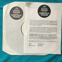 "J & J – Sweetest Taboo  JUNGLE  1995 UK Vinyl 12"" Promo  KUT 001  MINT UNPLAYED"